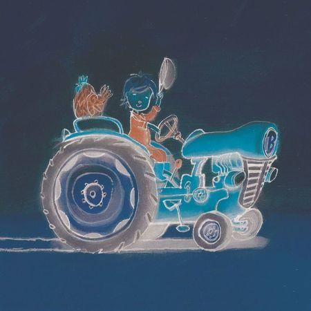 Boer Boris op tractor